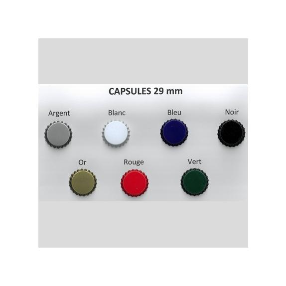 750 capsules Couleur 29mm