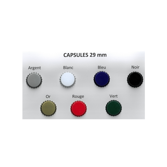 250 capsules Couleur 29mm