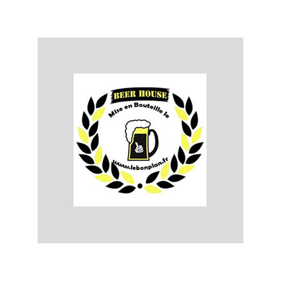 50 étiquettes non autocollantes Médaille