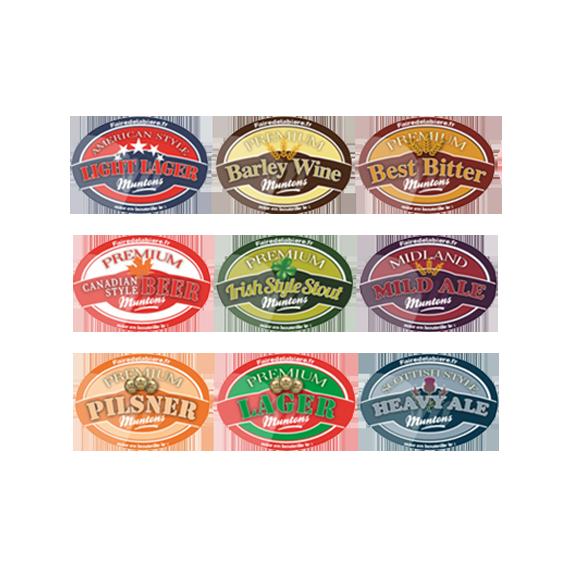 18 étiquettes non autocollantes Munton's Premium