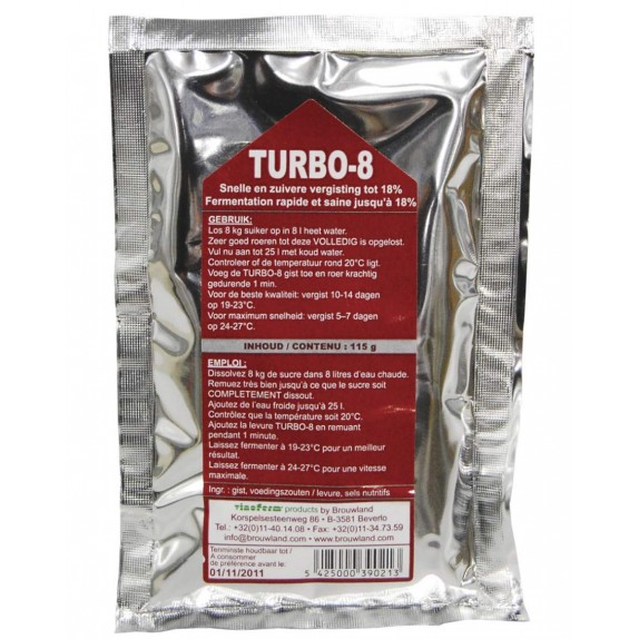 Levure Turbo 8