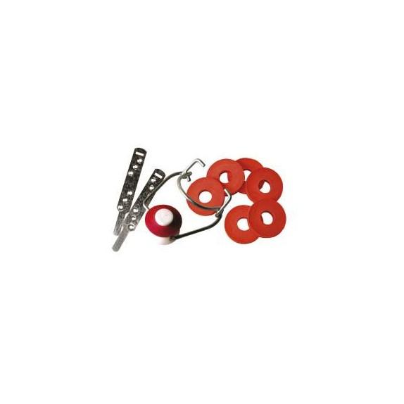 Bouchon mécanique plastique et collier x 25