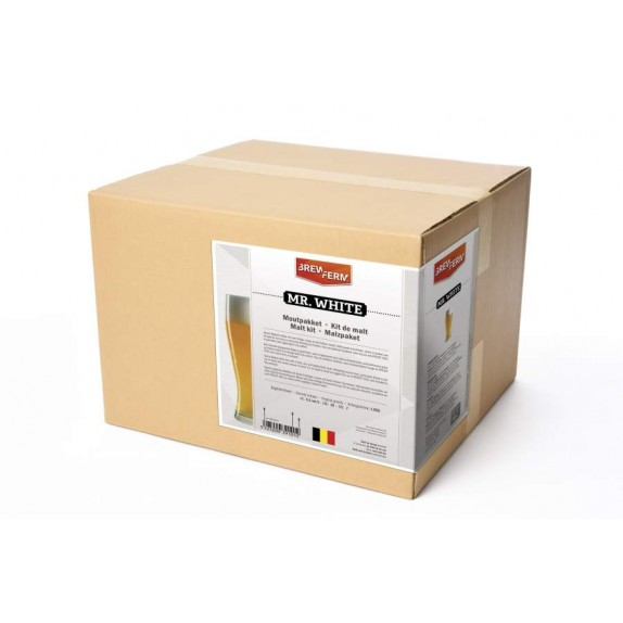 Description du kit de malt Brewferm Mr White