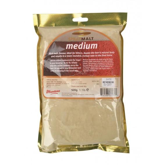 Malt poudre Muntons medium 22-44 EBC 500 g
