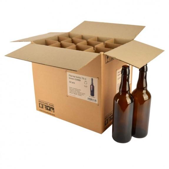 Carton Bouteilles bière 75 Combi bouchon automatique